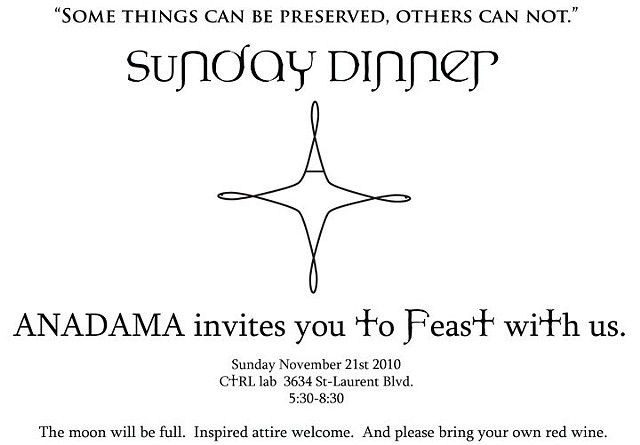 position 7 - Sunday Dinner