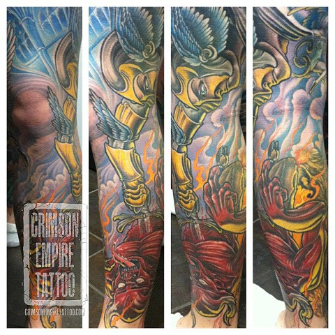 Demon and god sleeve by Jared Phair