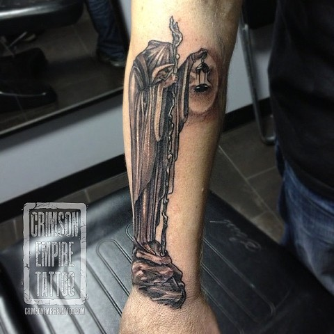 Cloak guy on forearm by Josh Lamoureux