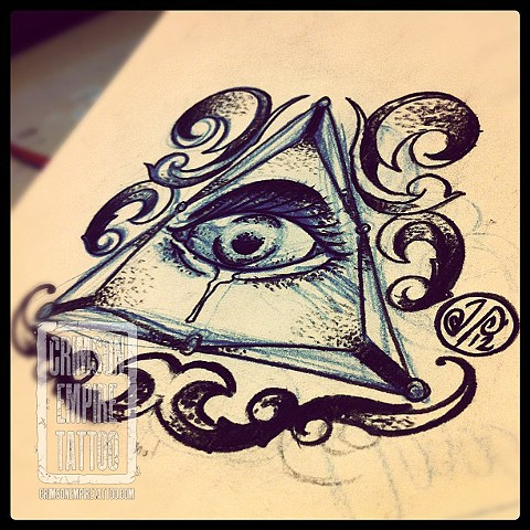 Illumanati Palm Tattoo Sketch by Jared Phair