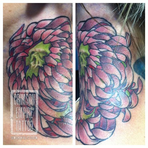 Neck Flower and skull by Jared Phair
