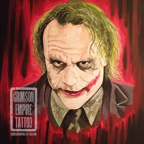 Joker painting by Chad Clothier. Follow Chad @clobot