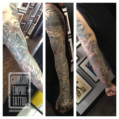 Mask and temple sleeve on arm by Josh Lamoureux