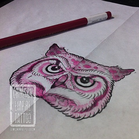 Owl Coverup Sketch by Curt Semeniuk