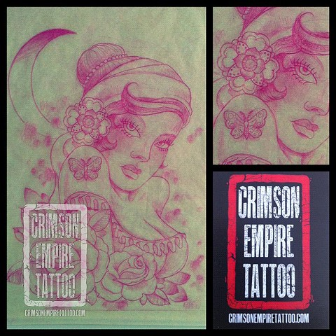 Gypsy girl sketch by Curt Semeniuk. Follow Curt @ol_curty_bastard