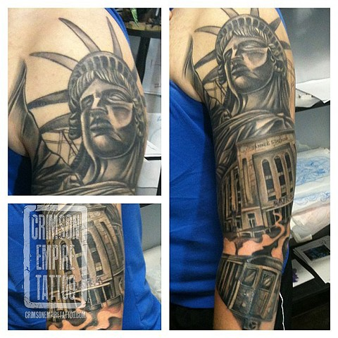 New York themed sleeve