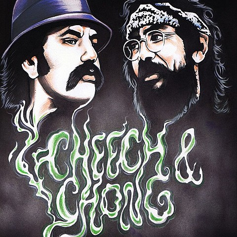 Cheech and Chong print by Chris Labrenz. Follow Chris @labrenzink.