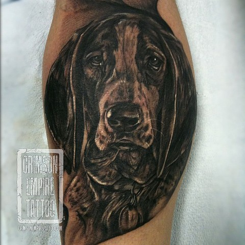 Pup on thigh by Josh Lamoureux