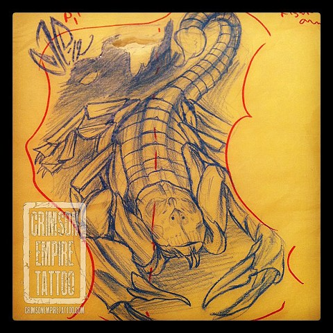 Scorpion sketch by Jared Phair