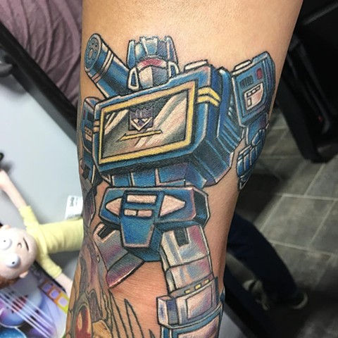 Transformers Full Color Tattoo