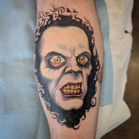 Exorcist Captain Howdy Tattoo By Landon Wierenga Color Crimson Empire Tattoo