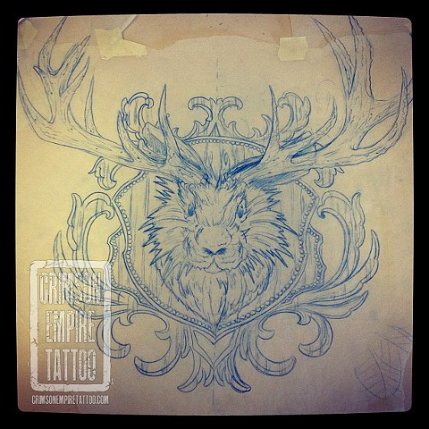 Rabbit and Antler Sketch by Josh Lamoureux