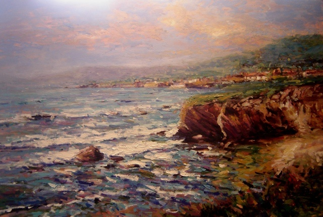 Central California coast seascape R W Bob Goetting