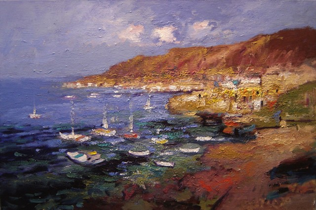 Painting of Santorini Greece, paintings of Greece