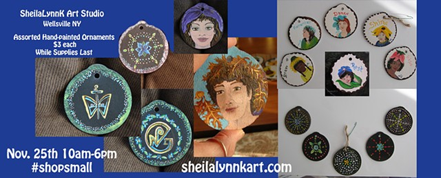 Handpainted ornaments, sacred art ornaments, shopsmall