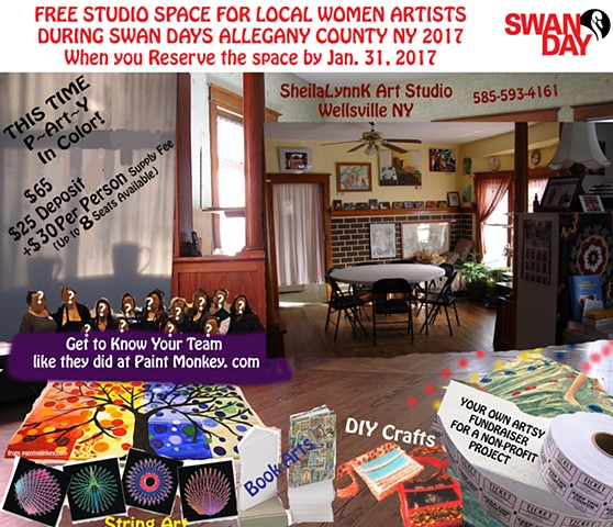 Studio Space, Wellsville NY, SWAN Day,