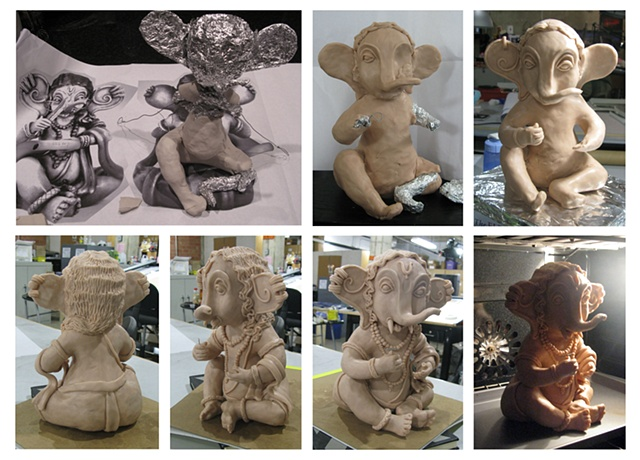Ganesh Sculpture Prop for film