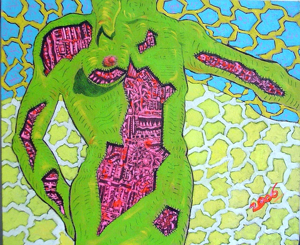 Green Body, Acrylic on Canvas, 2006