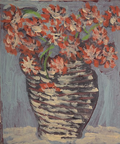 Margaret Ponce Israel Vase with Zinnias