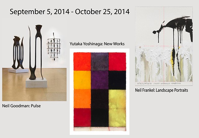 Sept 5 - Oct 25, 2014 - Neil Goodman: Pulse, Yutaka Yoshinaga: New Works, Neil Frankel: Landscape Portraits