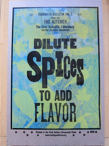 Dilute Spices to Add Flavor 2010