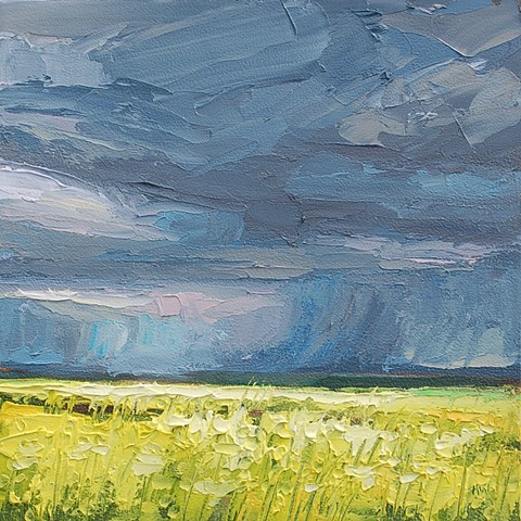landscape, English landscapes, suffolk landscapes, palette knife landscapes, impasto painting, contemporary landscapes, yellow fields