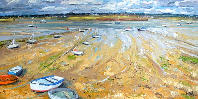landscape, English landscapes, suffolk landscapes, palette knife landscapes, impasto painting, contemporary landscapes, seascape, marine paintings,