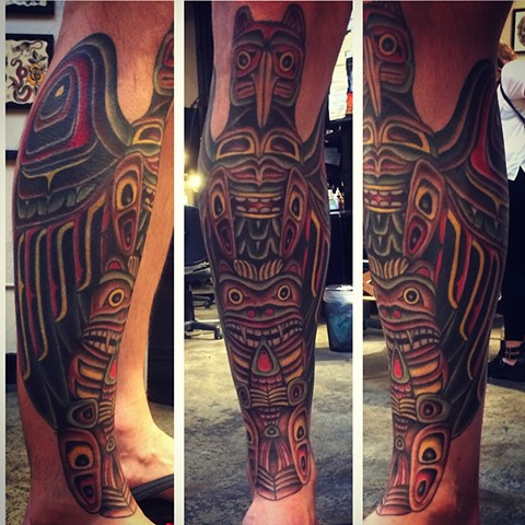 completed crap panther to totem pole transformation