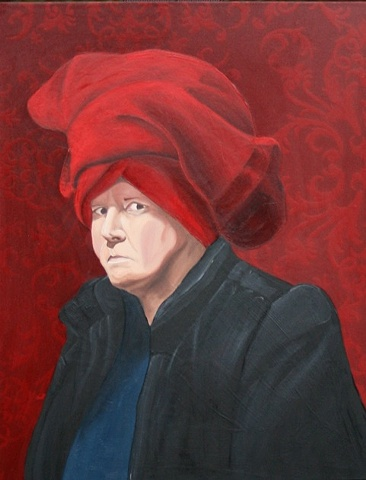 Woman in a Red Turban