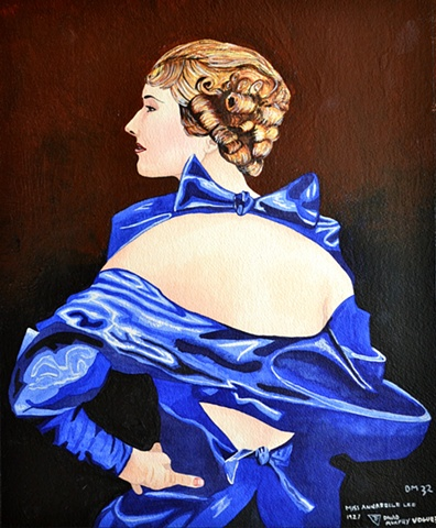 Miss Anabelle Lee, watercolour, 1920's, Vogue