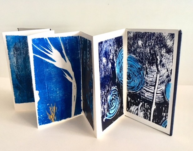 Prints in a handmade book