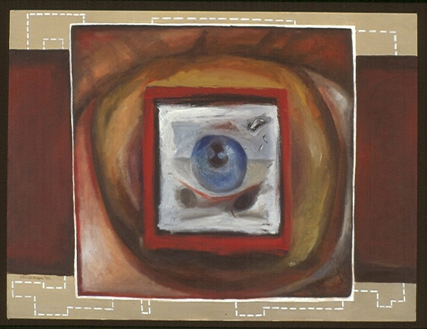 oil painting of eyes by artist Lori Markman