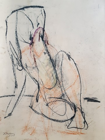 female nude gesture figure drawing by artist Lori Markman
