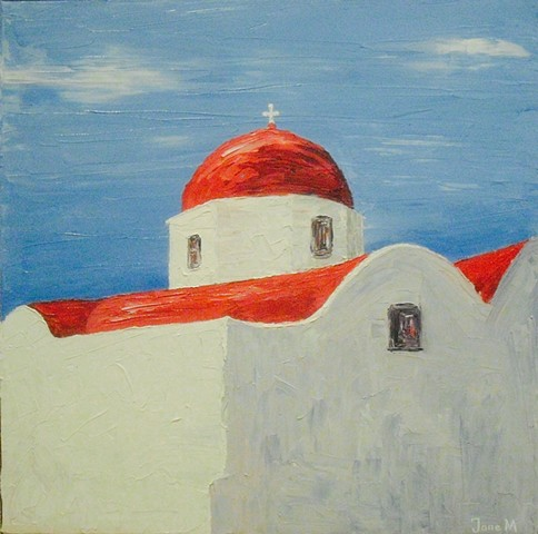 Chapel with Red Dome