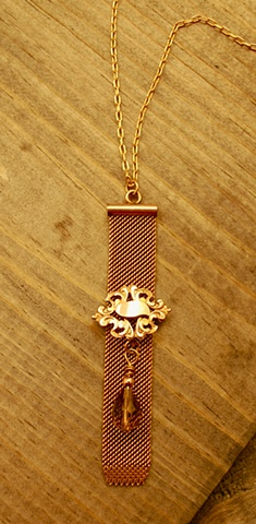 b62b8ad60ef5 Classic antique Victorian gold-filled mesh watch fob with beautiful ornate  metalwork