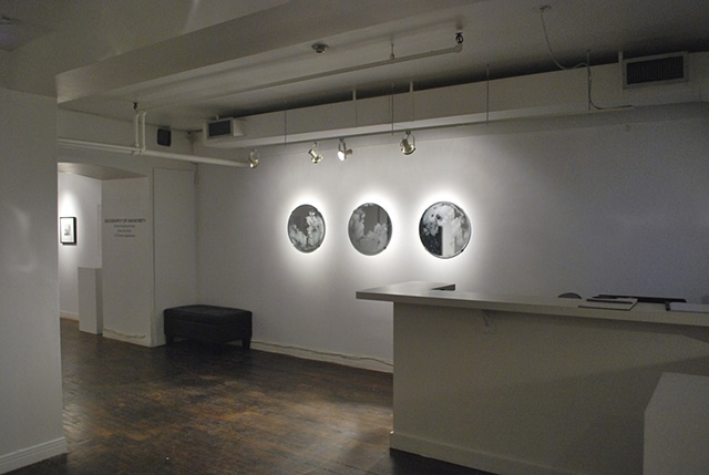 Installation view of Moon Mirrors