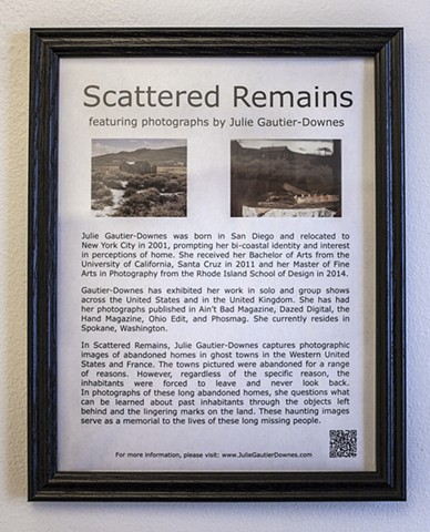 Scattered Remains, Zootown Arts Community Center