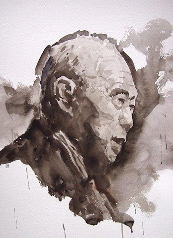 Aaron Gan Aaron Art WATERCOLOR LEE KUAN YEW singapore