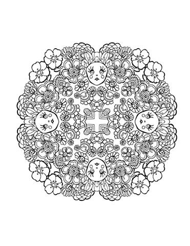 Flower Girl Deco Mandala ©Kappa Publishing