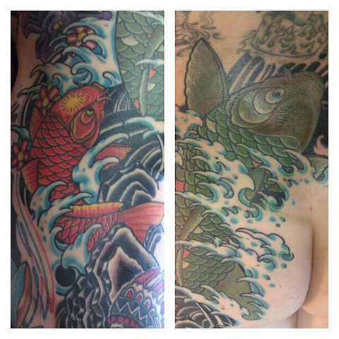 Koitattoo, japanesewavetattoo, avalontattoo, jasonsalinaz, sandiego, california, pacificbeach