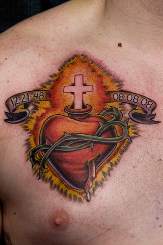 Avalon tattoo, jason salinaz, sacred heart, tattoo, pacific beach, san diego tattoo artist
