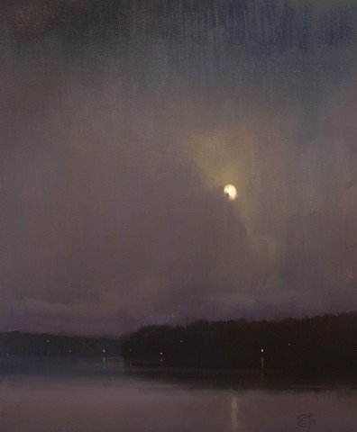 Devin Michael Roberts Nocturne Moon Night Painting Oil