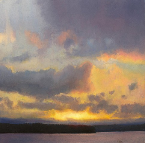 Devin Roberts Art Paintings Sunset Seascape