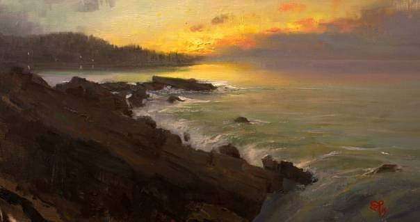 Devin Roberts Artist Painting Seascape