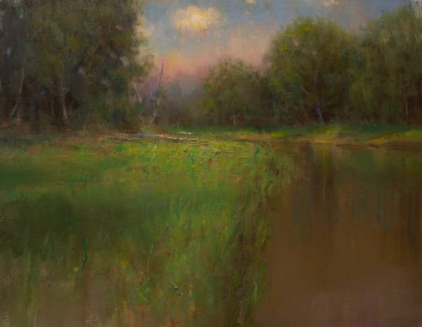 Devin Roberts Artist Sunset Painting Oil