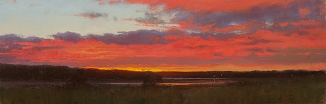 Devin Michael Roberts Sunsets Oil Painting Southwest Art Magazine