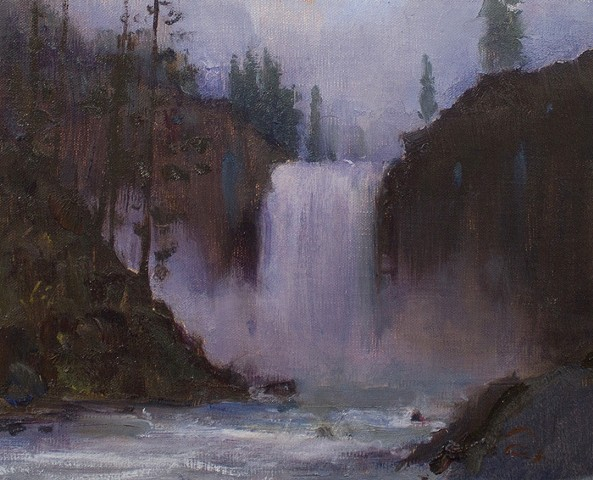 Devin Roberts Art Paintings Artist Snoqualmie Falls Oil Painting