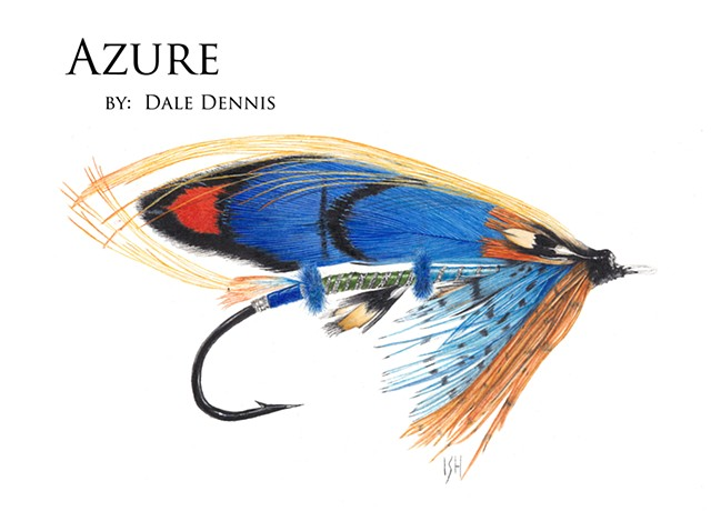 Azure, Atlantic Salmon Fly by Dale Dennis