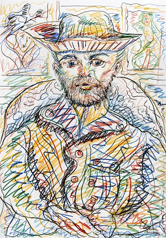 Tribute to Vincent van Gogh series. Gerry Gleason. 2012.