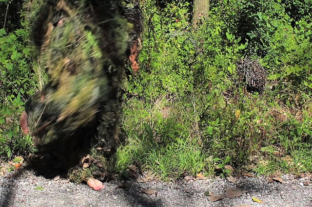 Video Still, Forms of Awareness: Ghillie Suit